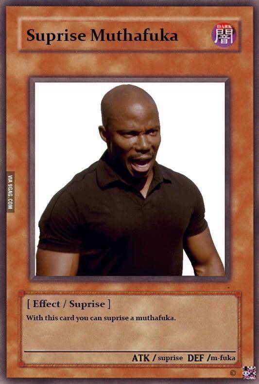 Suprise Mothaf**kah! | Funny yugioh cards, Pokemon card ...