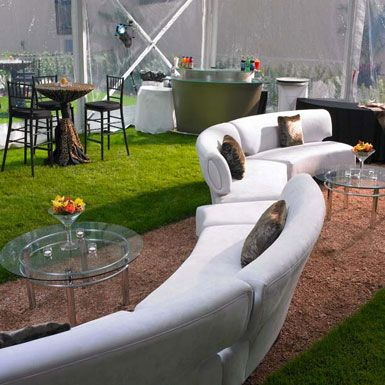 White Lounge Furniture, Outdoor Event Dynamic Events   David Caruso    Stylish Corporate Events,