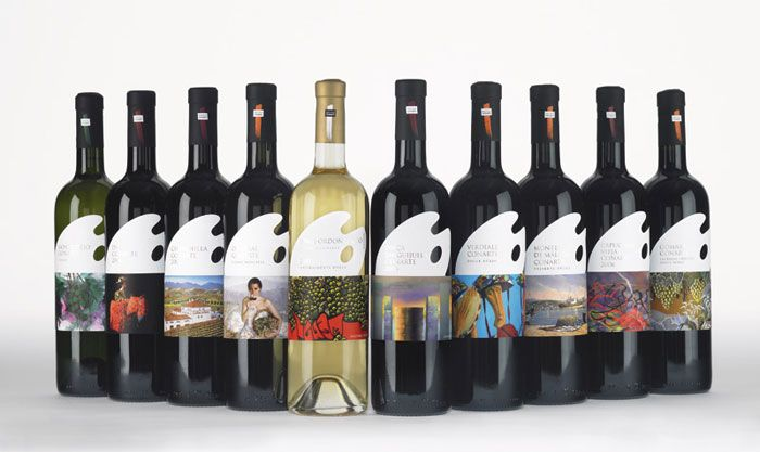 Málaga Conarte wine label | Wine, Wine design and Design packaging