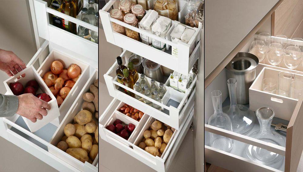 cómo organizar una cocina pequeña?   Almacenamiento   Pinterest ...