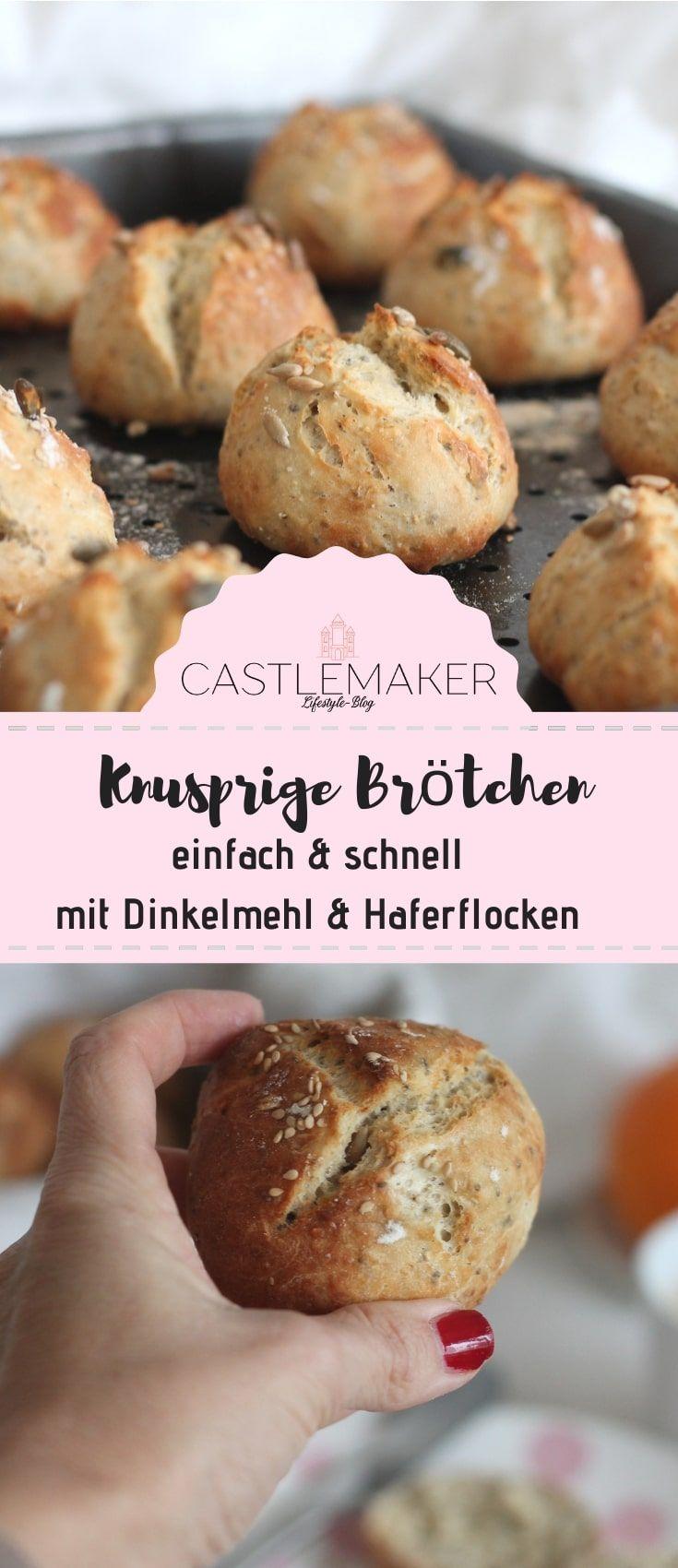 CASTLEMAKER Lifestyle Blog  Knusprige Brötchen mit Haferflocken selber backen  Unglaublich einfach  schnell fertig  CASTLEMAKER Lifestyle Blog