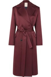 Crepe Autumn Trench Satin Winter Coat Fall Roksanda Double Kanawai Breasted Yx5wUPU