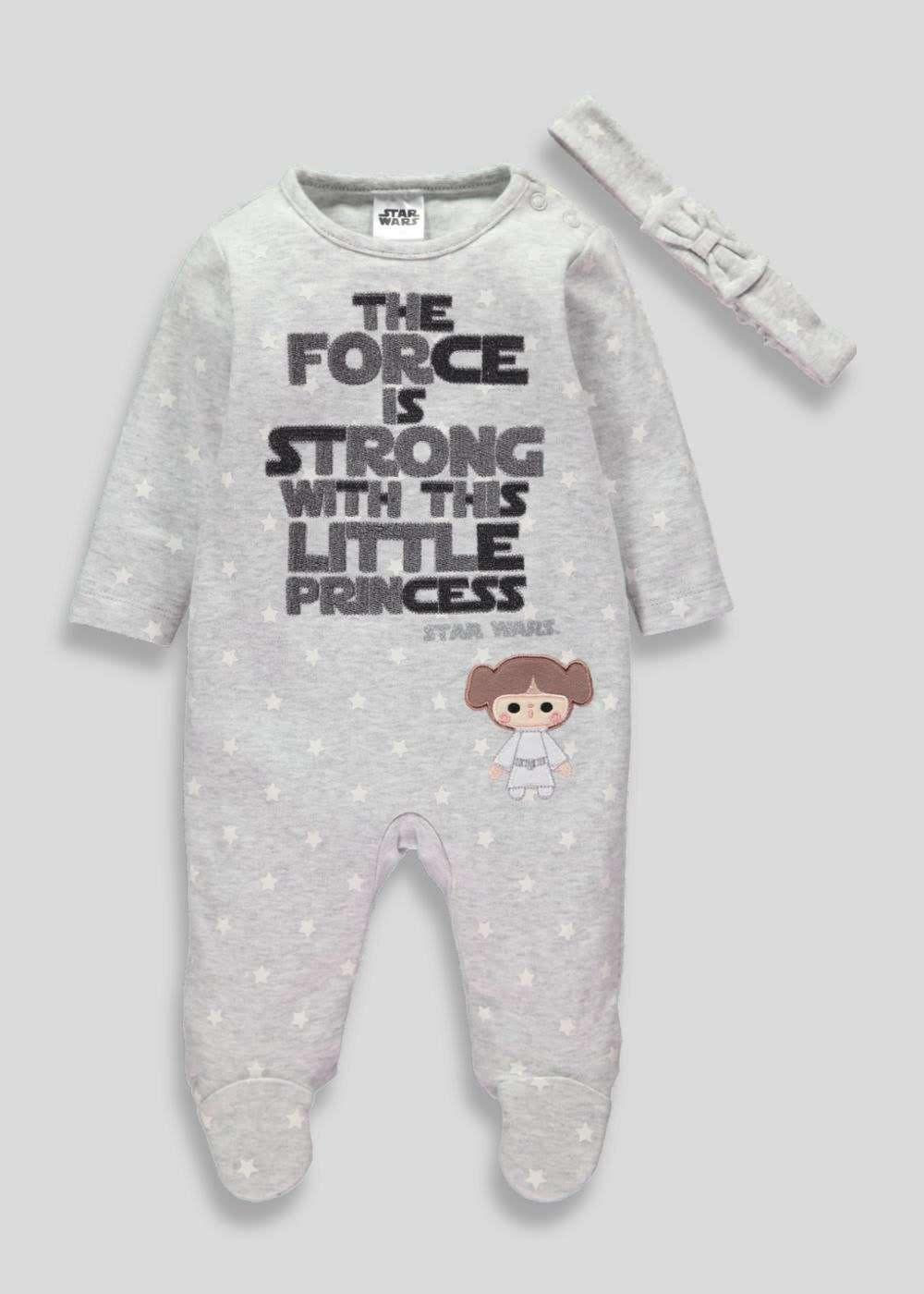 Girls Star Wars Sleepsuit (Tiny Baby-12mths) – Matalan