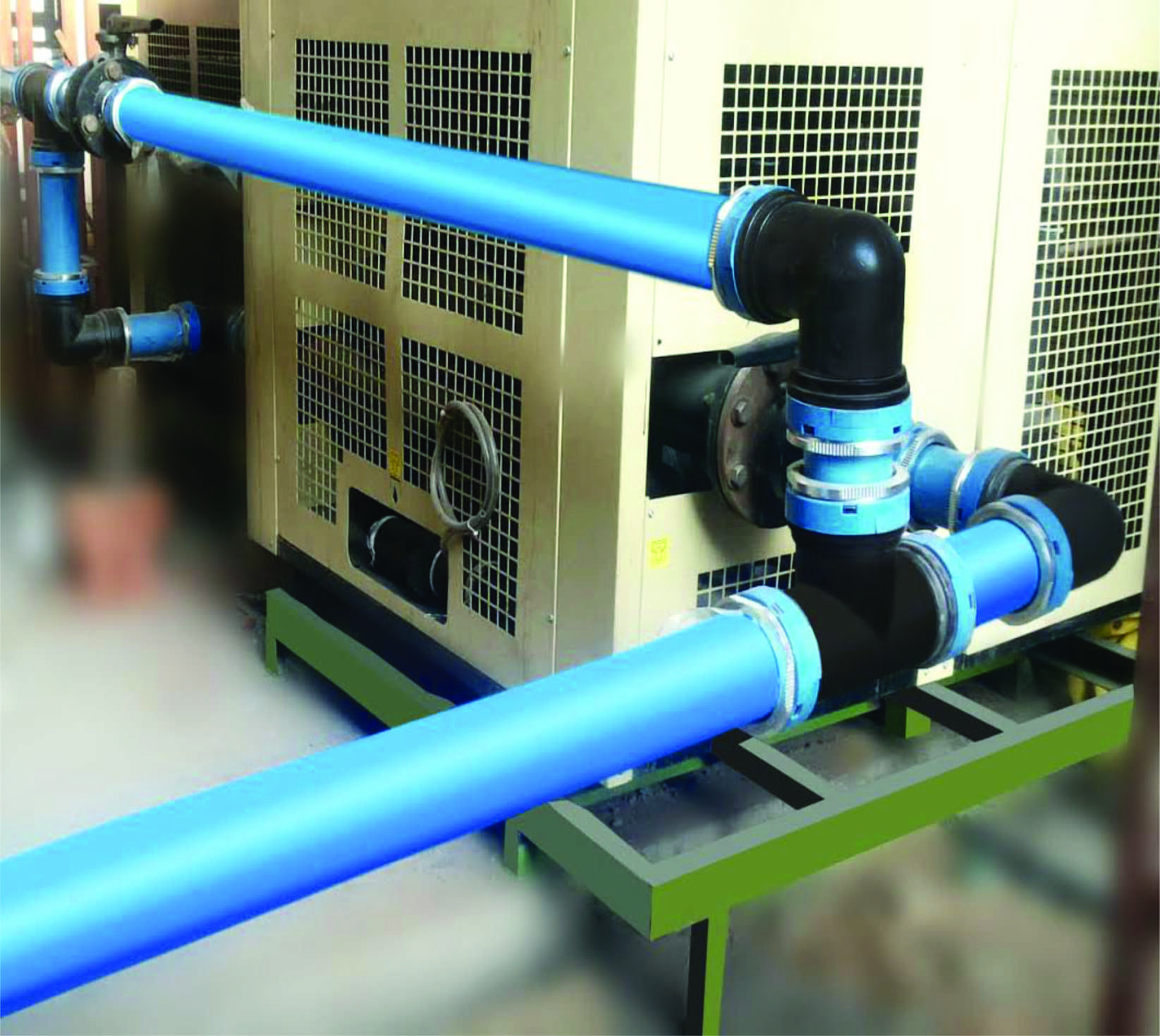 Compressed Air Piping Diagram Pneumatic tube, Compressed
