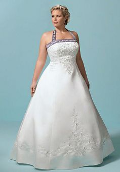 Halter Sleeveless Princess Lace Up Floor Length Satin Plus Size