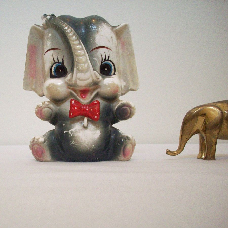 Items Similar To Sale 1950s Ceramic Elephant From Japan On Etsy Ceramic Elephant Elephant Ceramics