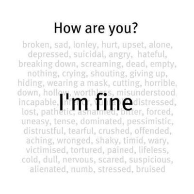 Heartbroken quotes  I'm fine  is part of Heartbroken quotes - Read I'm fine  from the story Heartbroken quotes by Lucifer di vampire (Your Darkest Sunshine~最阴暗的阳光) with 178 reads  q