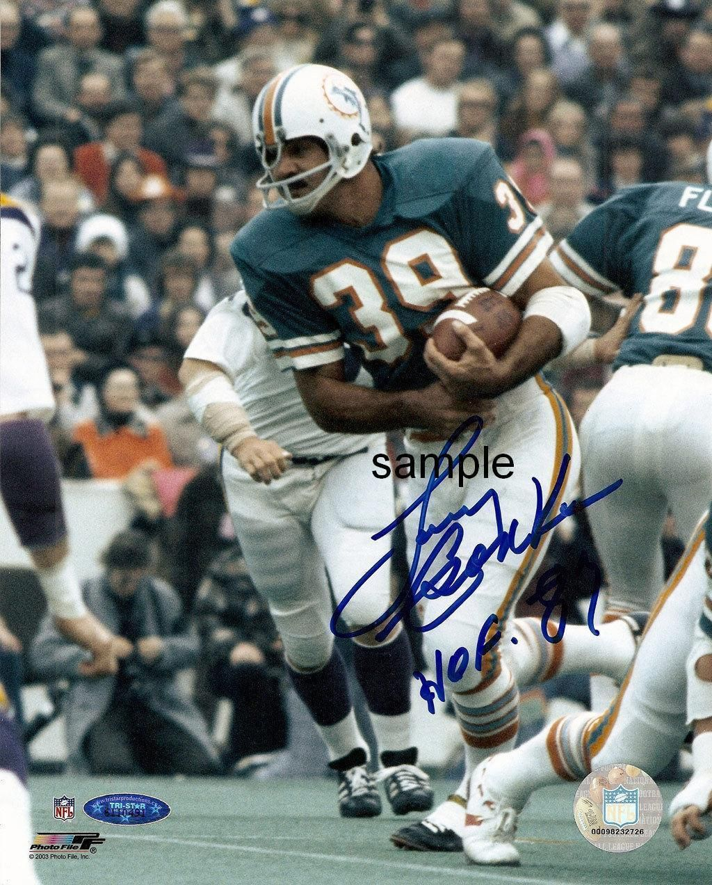 3f9cab19f35 LARRY CSONKA 1 REPRINT 8X10 AUTOGRAPHED SIGNED PHOTO PICTURE MIAMI DOLPHINS  RP