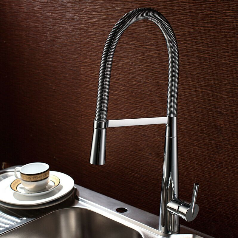 Homary Style Smooth Body Single Lever Handle Swing Arm Kitchen Faucet In Chrome Kitchen Faucets With Images Kitchen Faucet Kitchen Faucet Reviews Chrome Kitchen Faucet