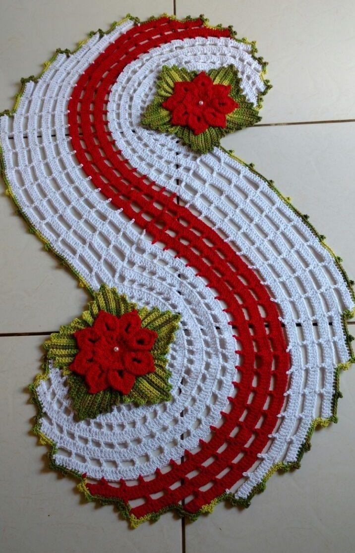 Crochet Table Path | Paths, Crochet and Community