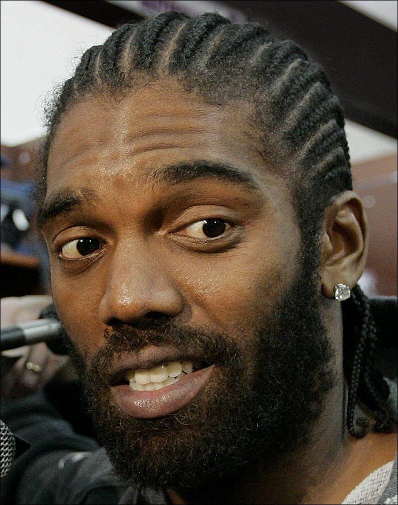 Randy Moss Long Hair Braids Cornrows Afro Textured Black Men Hairstyles  Twist And Braidsmen Braids Hairstyles