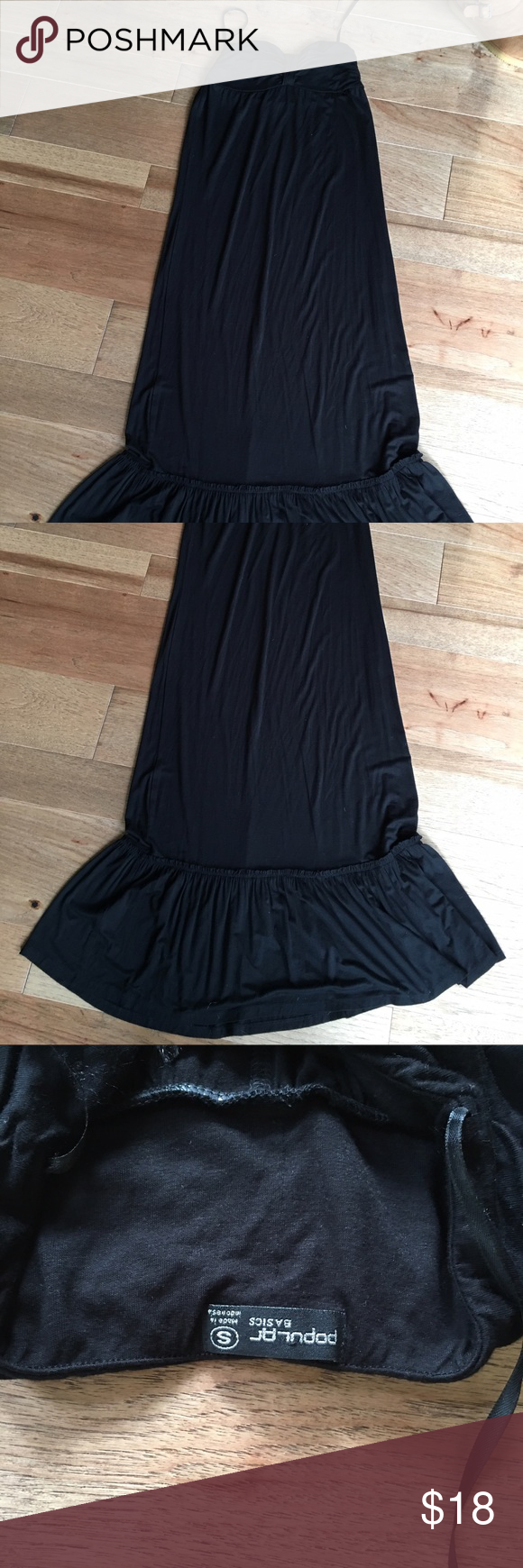 Long black strapless dress Never worn!  Too long for my taste but is soooo soft and comfy.  Strapless dress that goes to floor length.  Great for the beach or vacation:) Dresses Maxi