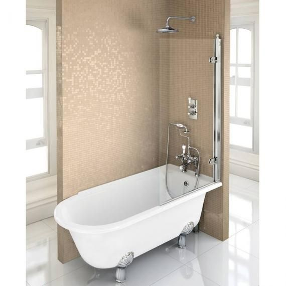 1500 Shower Baths burlington hampton 1500 freestanding shower bath - right hand