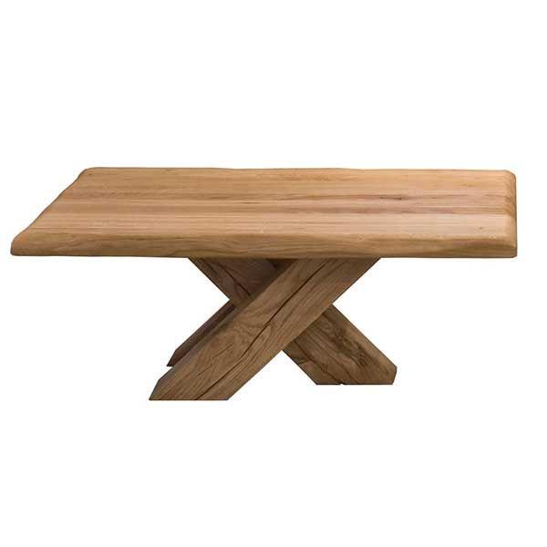 Rustikal-moderne Tische mit Baumkante - Ein echter Blickfang - wohnzimmertisch eiche rustikal
