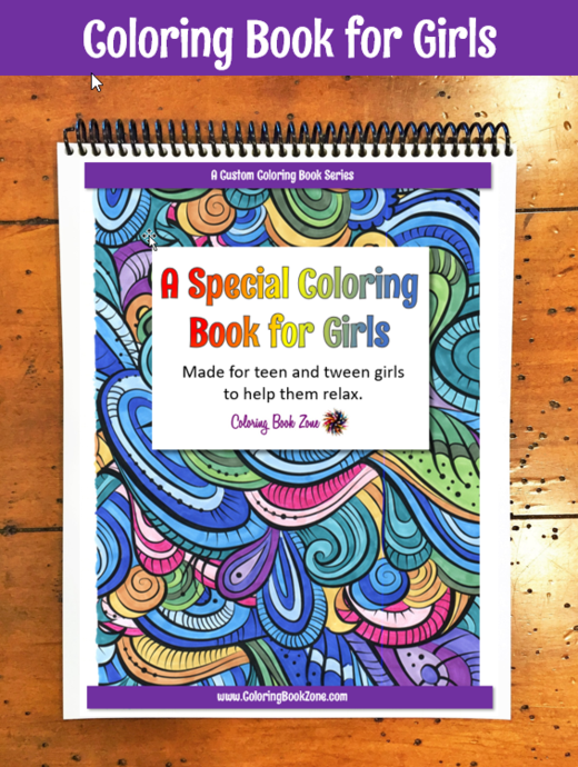 A Special Coloring Book For Girls Live Your Life In Color Series Coloring Books Book Girl Artist Markers