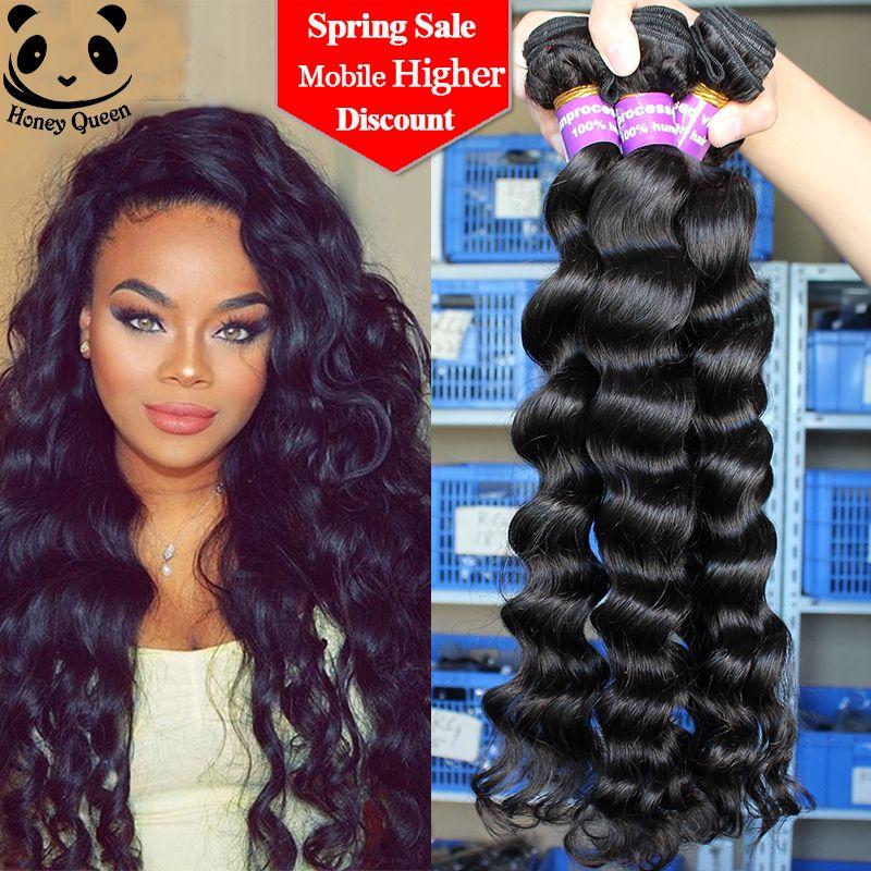 7a Malaysian Virgin Hair 3 Pcs Malaysian Loose Wave Human Hair Weave