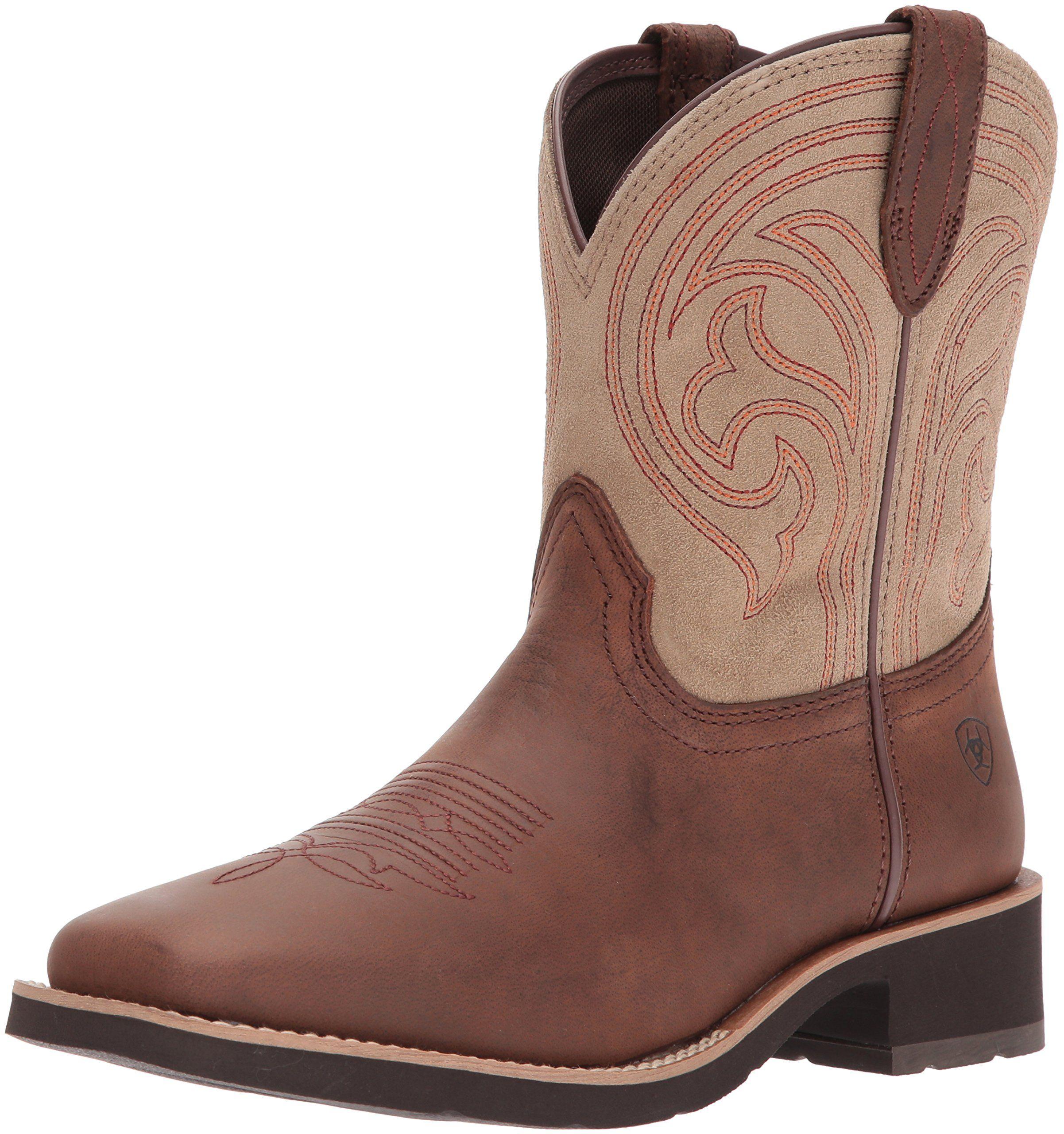 Ariat womens shawnee work boot matte brown 65 b us