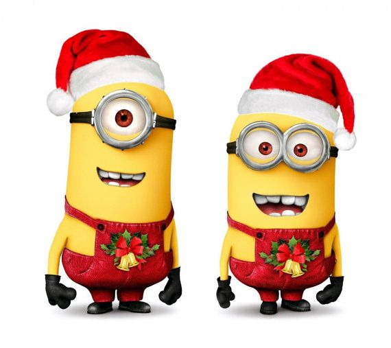 Minions Christmas Minion Movie Instant Download Digital Printable Design Printable Christmas Card Minions Images Minions Wallpaper Minion Christmas