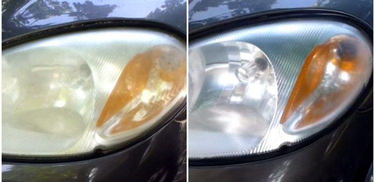 simple trick for restoring car headlights homemade pinterest rh pinterest com
