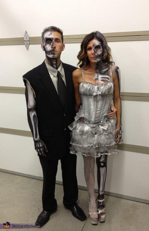 Bride And Groom Halloween Costume.Half Dead Bride And Groom Halloween Costume Contest At