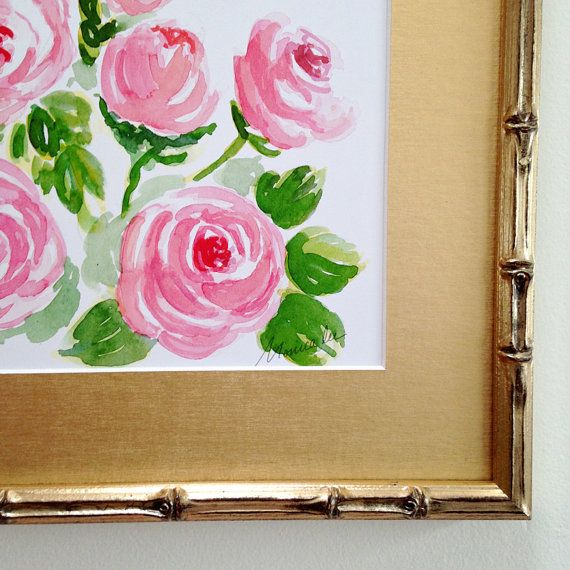 Watercolor print Peonies 8 x 10 archival print from by MonicaLee, $20.00