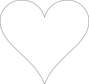Print Out These 6 Sweet And Free Heart Templates Printable Heart Template Heart Shapes Template Heart Template