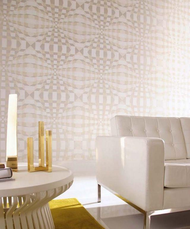 80 Wohnzimmer Tapeten Ideen \u2013 Coole, moderne Muster Pinterest