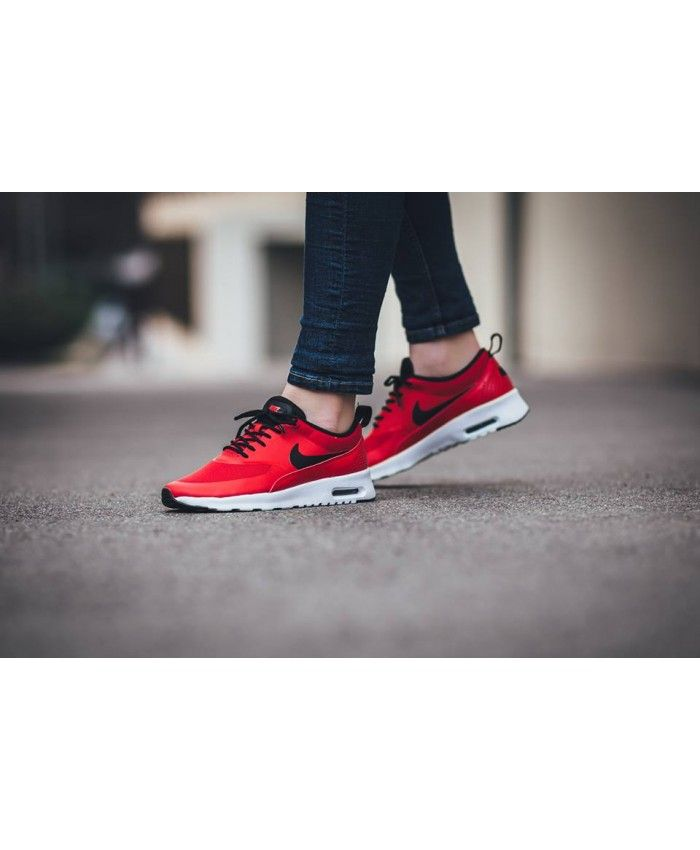 new concept fb978 a3804 Nike Air Max Thea Red Black Trainer Very hot series of styles, work is very