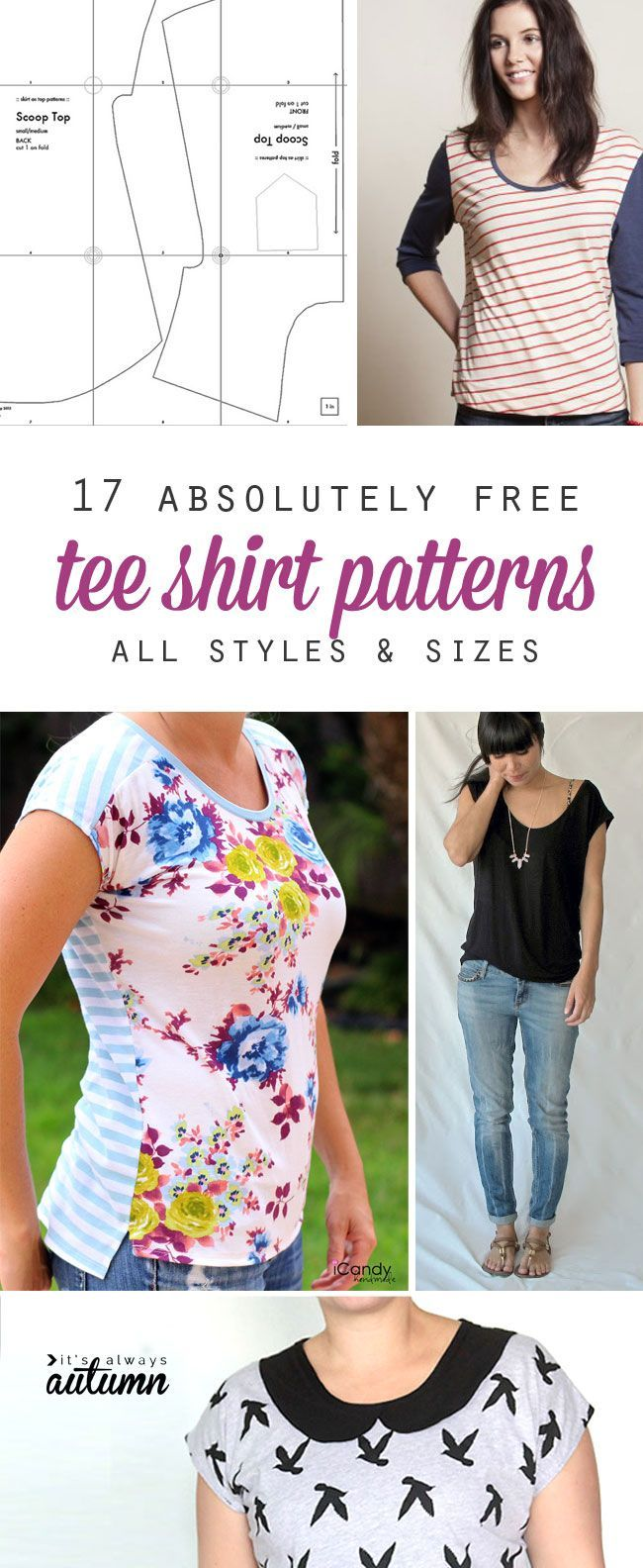 oh wow, gratis t-shirt-schnittmuster für frauen! | How Do It Info ...