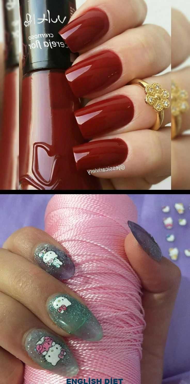 Rossi Nägel-Naturnagellack Rot! Wer ist das? Cherry ColorFlower von vult_c… – #cherry #colorflower #nails #natural #polish