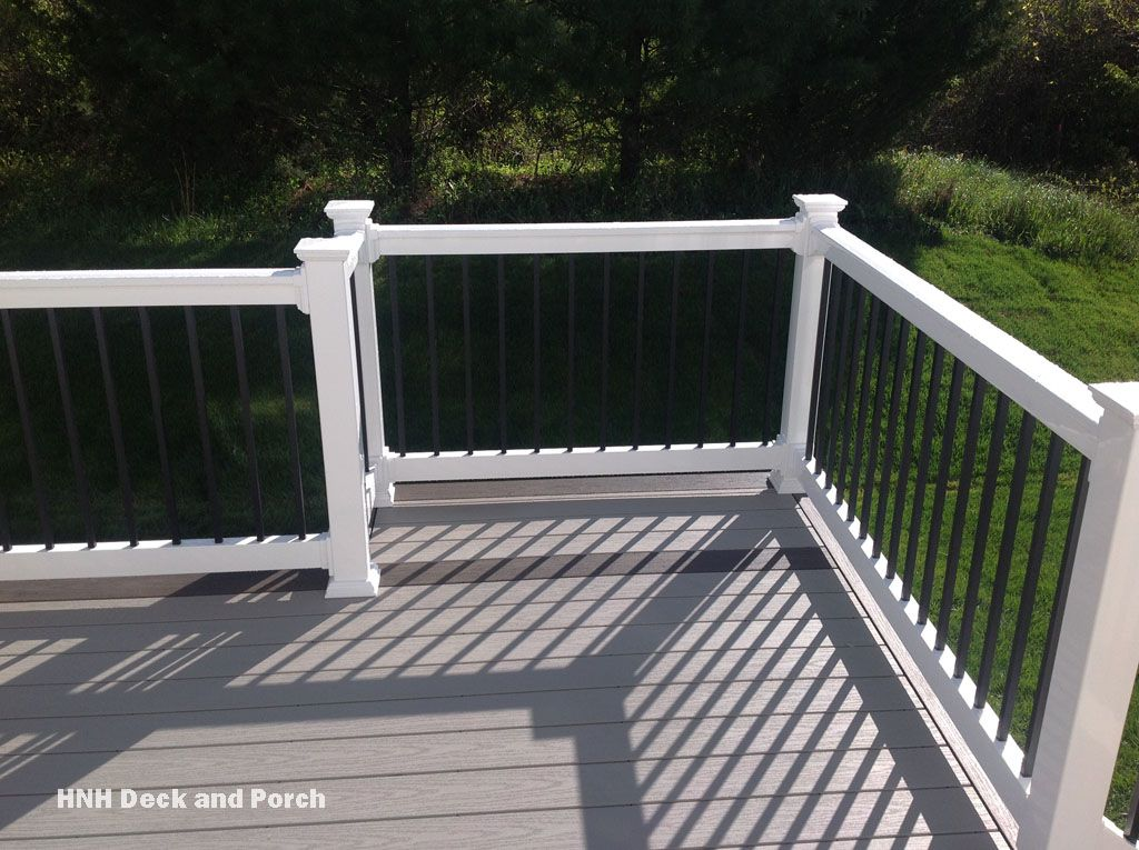 Vinyl Deck With Grill Bump Out Wolf Pvc Decking In Harbor Grey