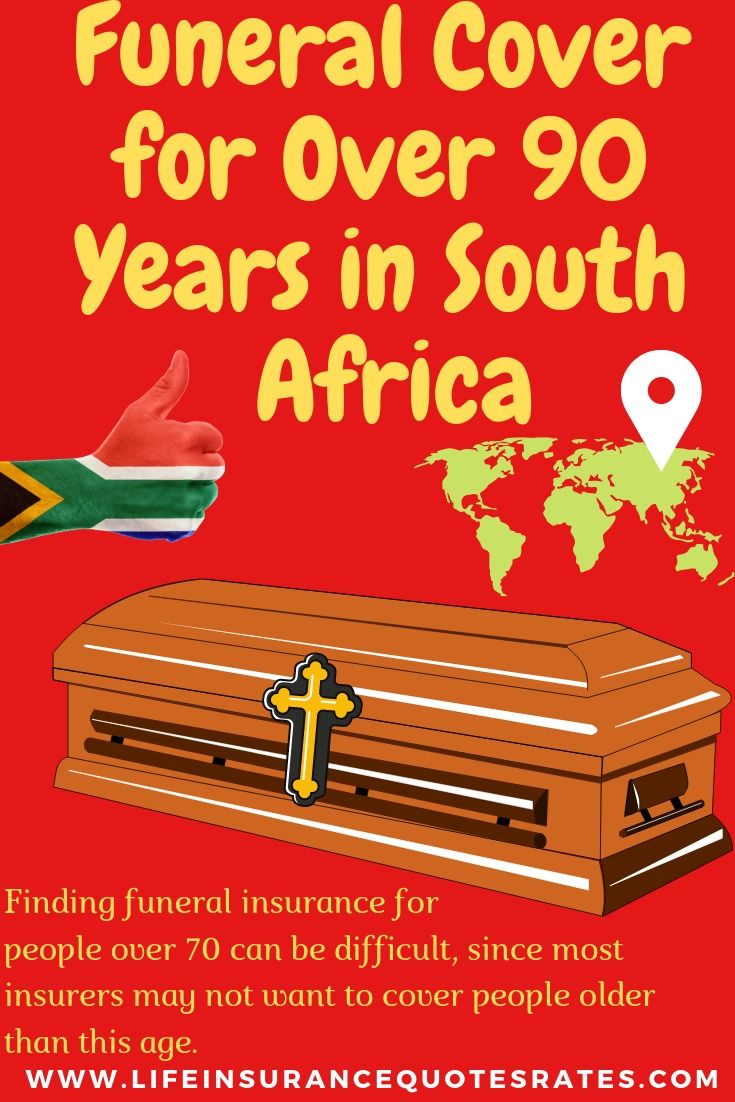 Funeral cover for over 90 years in south africa life