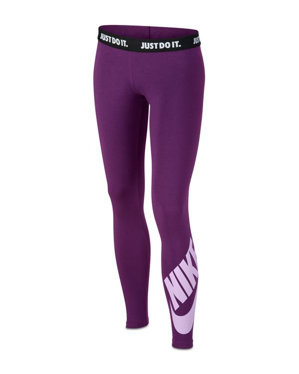 Nike Girls Sportswear Leggings - Big Kid - Purpleviolet -6118