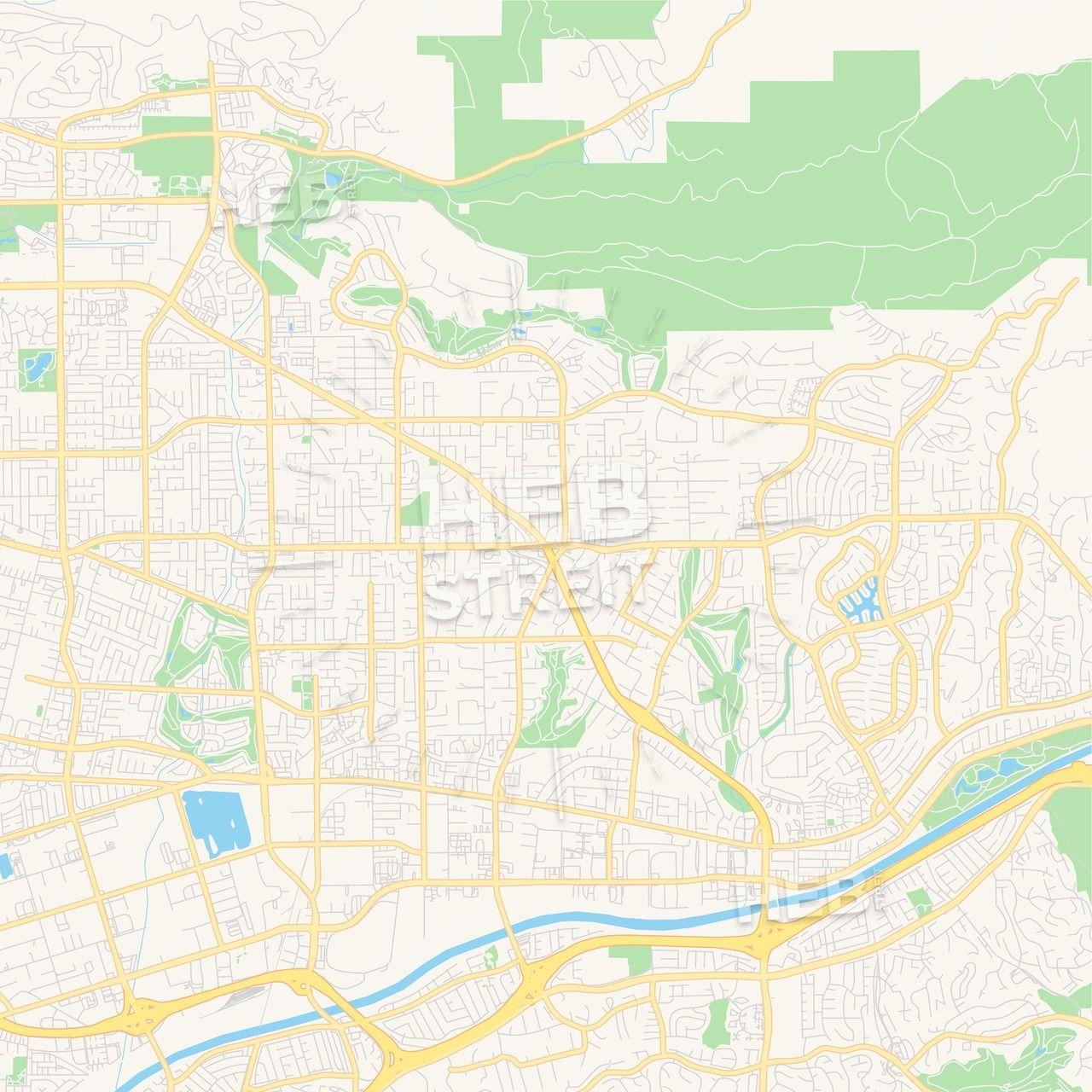 Empty vector map of Yorba Linda, California, USA | Maps ... on placentia map, san lorenzo map, linda cal map, covington map, gresham map, woodland map, linda ca map, ione map, kalamazoo map, sherman oaks map, whittier blvd map, oak view map, south los angeles map, elberton map, santa ysabel map, los alamitos map, san dimas map, claremont map, downey map, madison heights map,