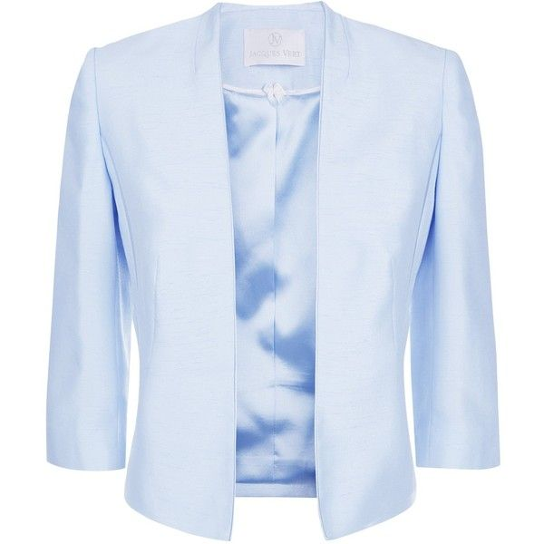 Jacques Vert Edge To Edge Jacket Light Blue 96 Liked On Polyvore Featuring Outerwear Jac Light Blue Jacket Plus Size Blazer Light Blue Blazers