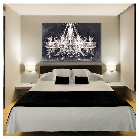 Don T Love The Bedroom Set But I Am Absolutely Loving Chandelier Painting Over Bed