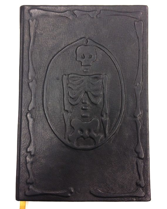 Lea Dalissier's Memento Mori book is beautifully designed and even sported a real leather embossed book cover.