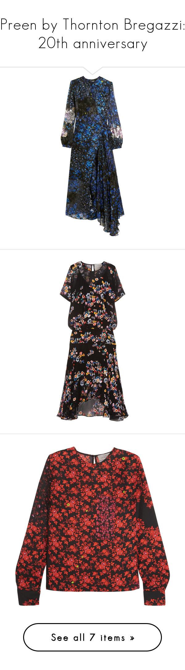 """Preen by Thornton Bregazzi: 20th anniversary"" by livnd ❤ liked on Polyvore featuring preenbythorntonbregazzi, dresses, preen, cobalt blue, silk chiffon dress, wrap dress, wrap tie dress, floral dresses, flower printed dress and dresses 3"