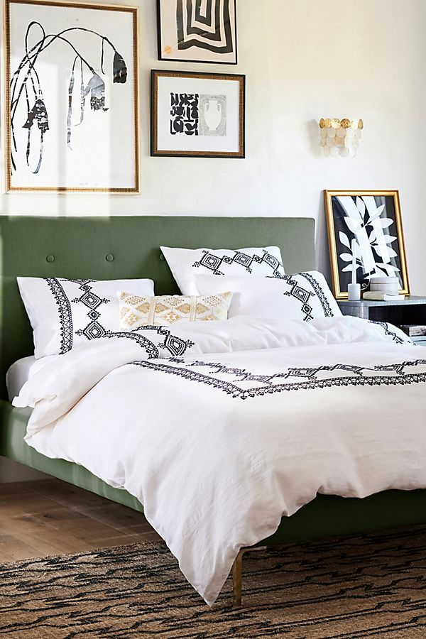 Embroidered Argenta Duvet Cover (With images) Duvet