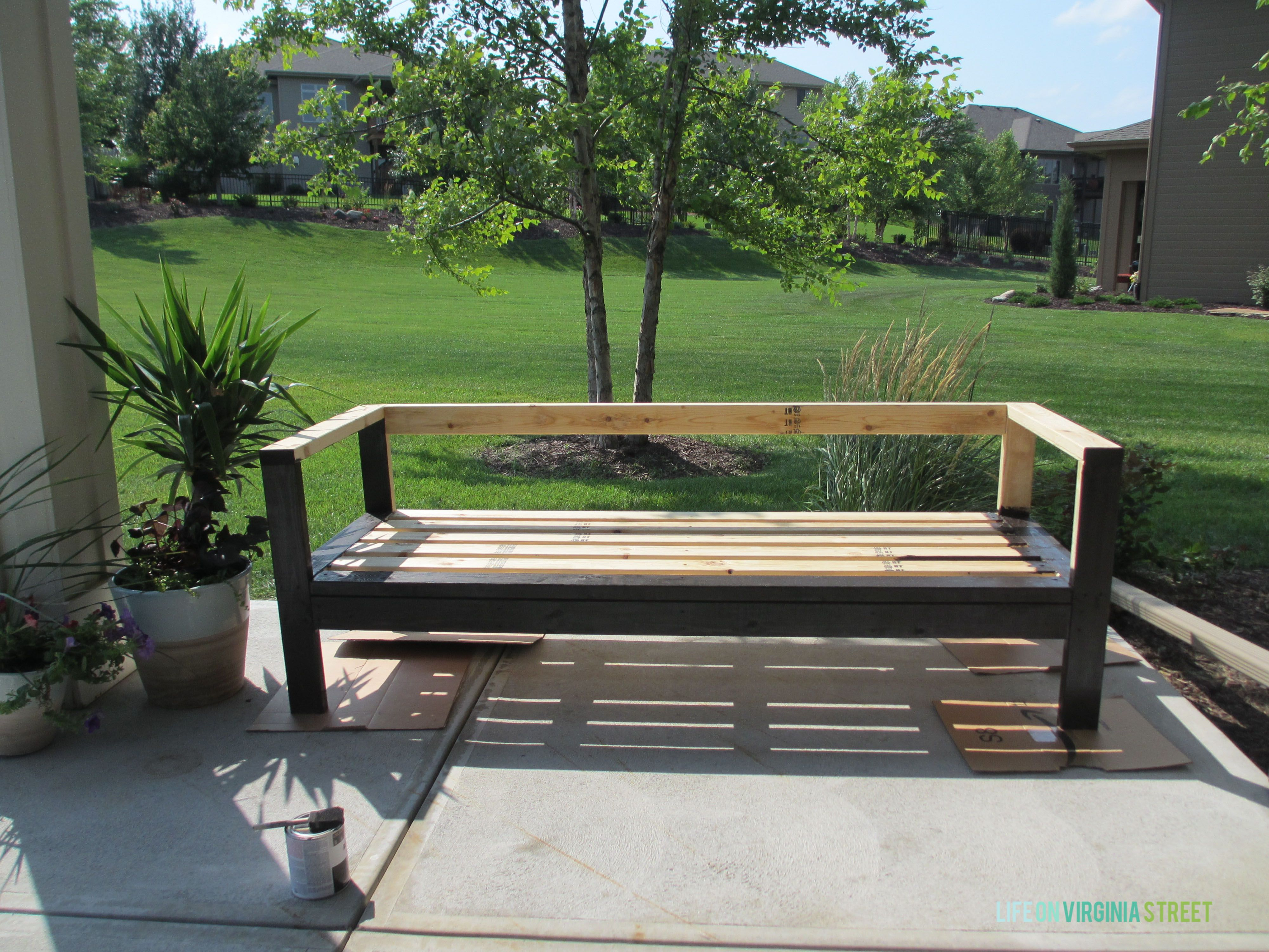 diy outdoor couch outdoor couch wood stain and woods