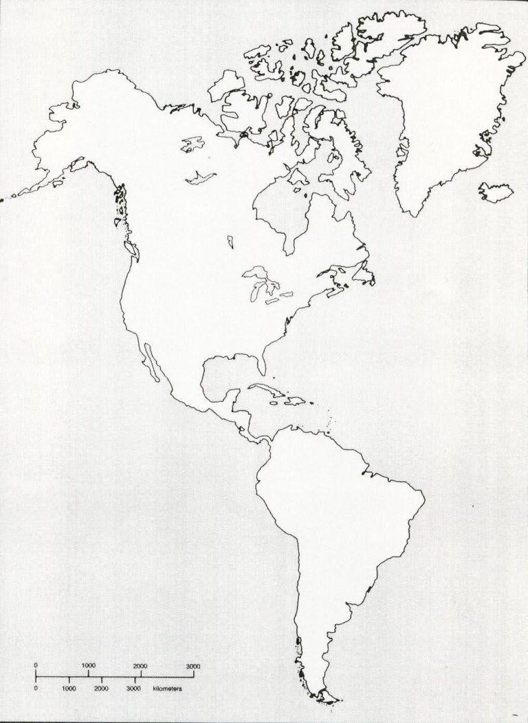 Blank Hemisphere Map Printable Blank Map Of Western Hemisphere Diagram With X | ap