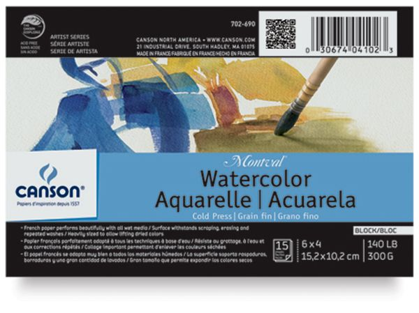 Canson Montval Watercolor Blocks Watercolor Watercolor Paper Art