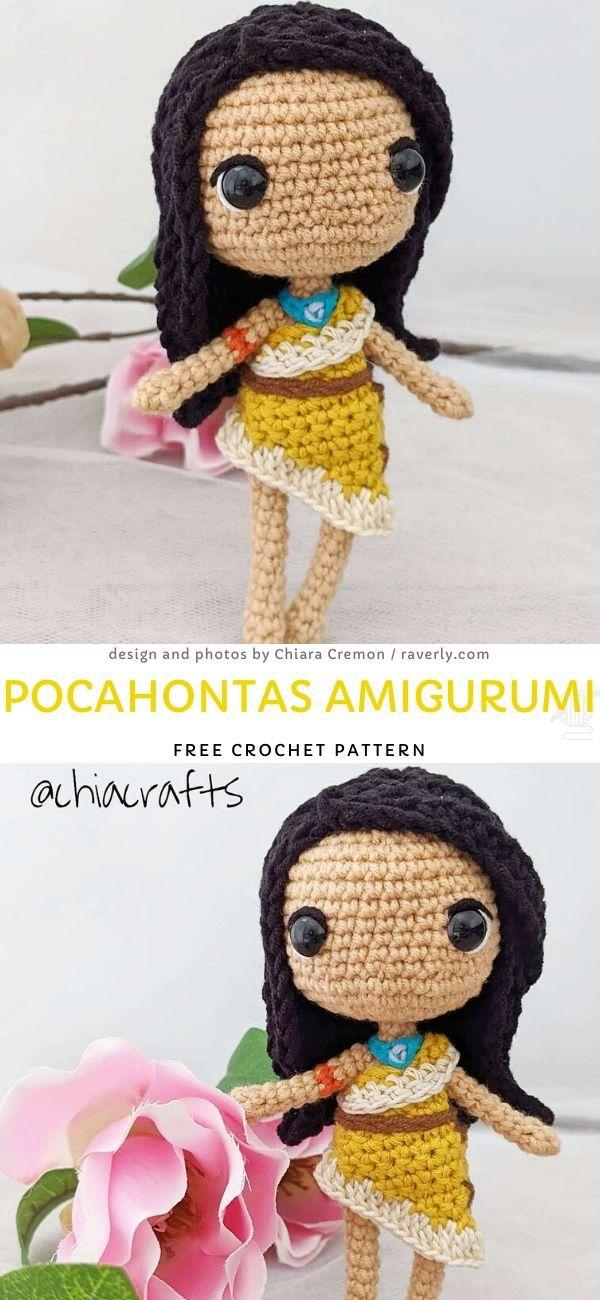 Pocahontas Amigurumi Free Crochet Pattern