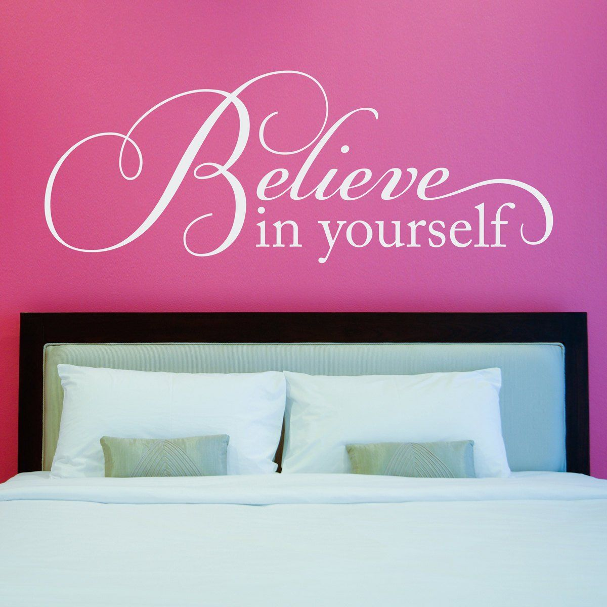 Believe wall decal believe in yourself decal wall art quote