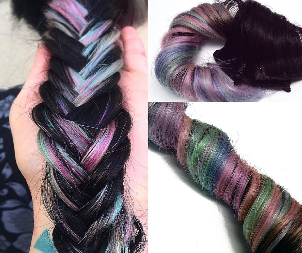 Pastel 1b Dip Dye Ombre Clip In Human Hair Extensions Pink Purple