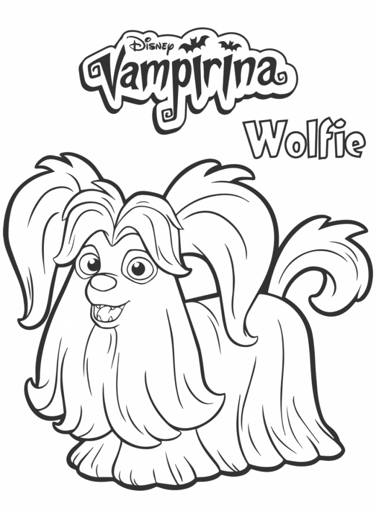 Wolfie From Vampirina Coloring Page Cora Bday Party In 2018