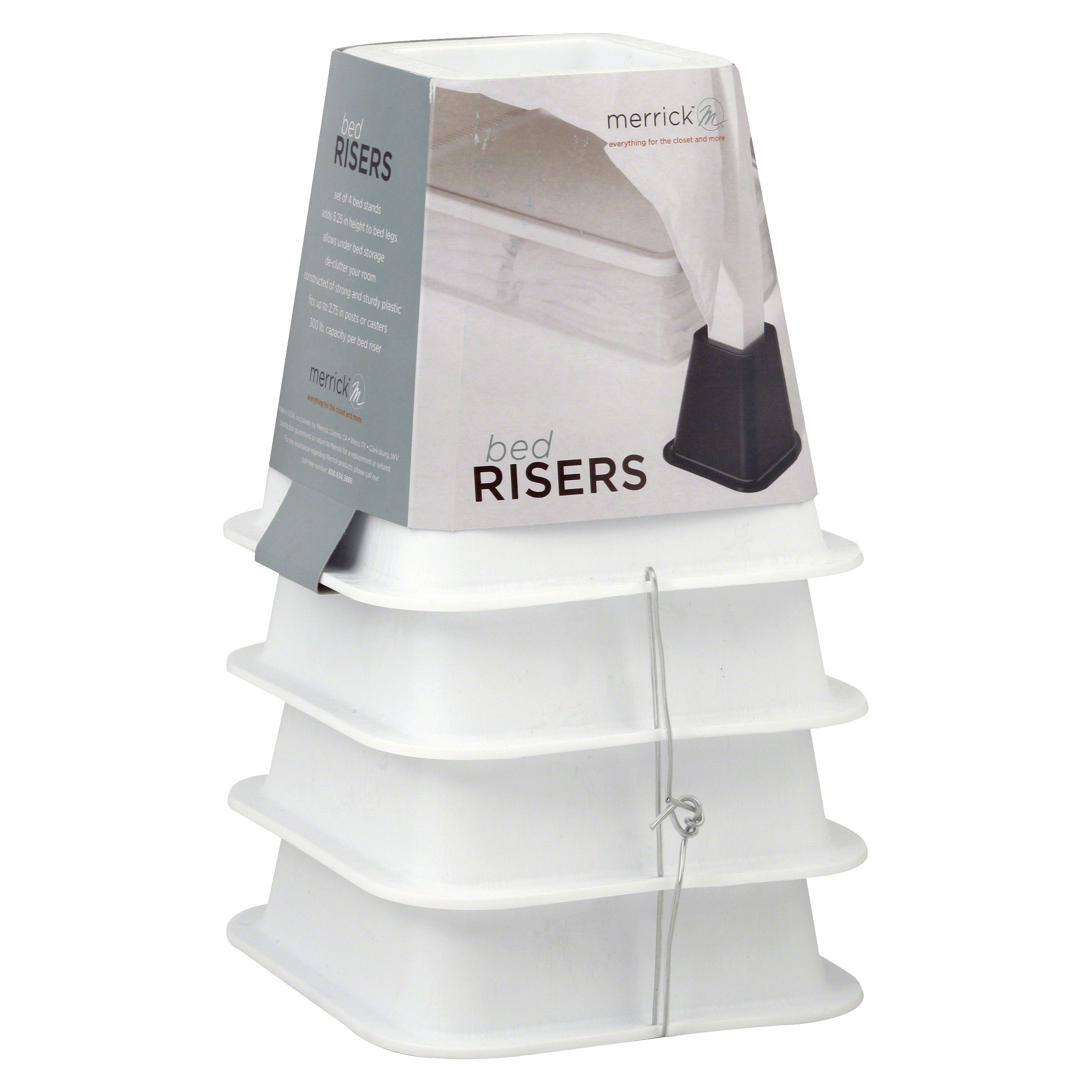 Room Essentials™ Bed Risers Set of 4 - White : Target - $6.83 | Dorm ...