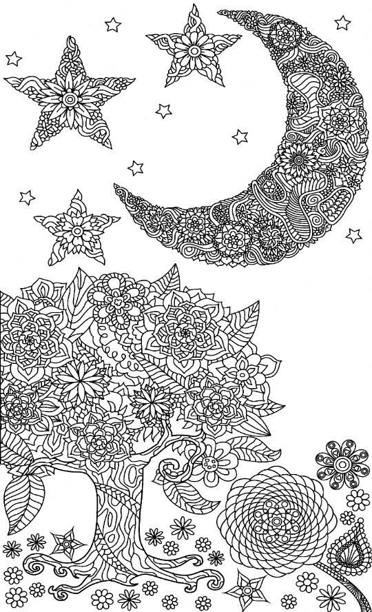 Pin By Michelle Sluder On Coloring Pages Moon Coloring Pages