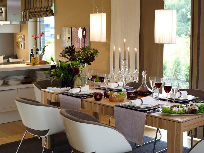 Solche Stühle? Wandarben sehr gemütlich Dining room ideas