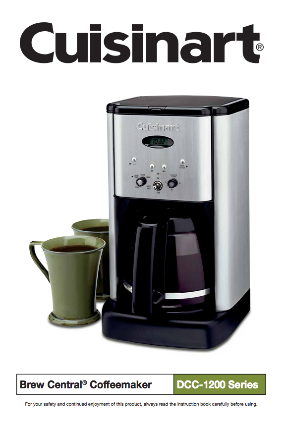 Brew Central™ 12 Cup Programmable Coffeemaker (DCC1200